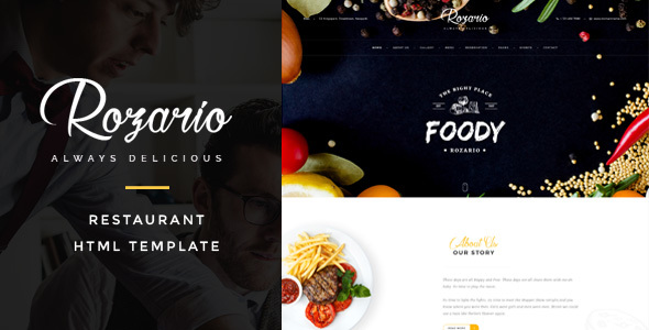 Rozario – Restaurant & Food HTML Template
