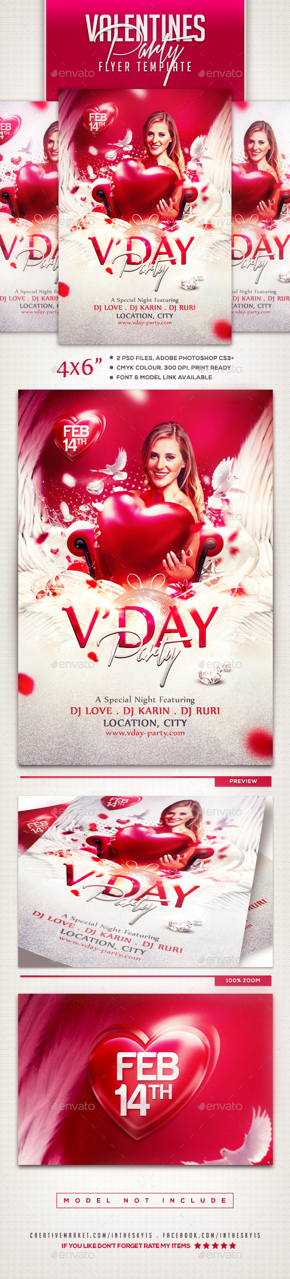Valentines Flyer Template - Events Flyers