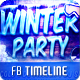 Winter Party V2 FB Timeline Cover - GraphicRiver Item for Sale