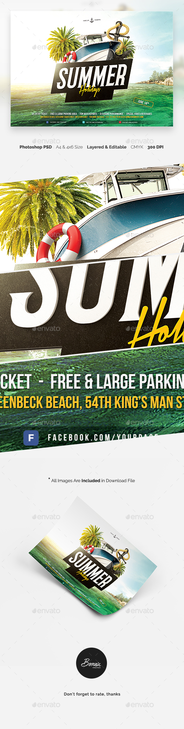 Summer Holidays Flyer Template