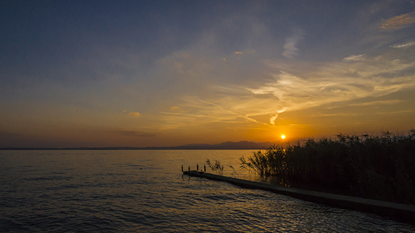 Sunset on Garda Lake