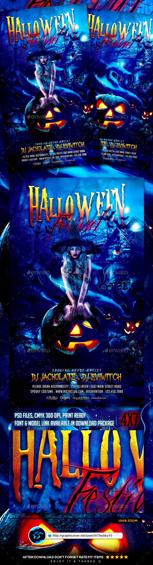 Halloween Festival Flyer Template - Events Flyers