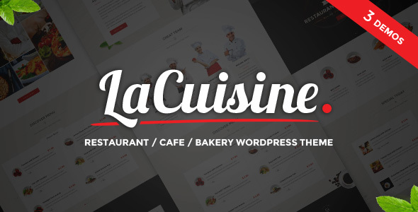 LaCuisine - Restaurant WordPress Theme