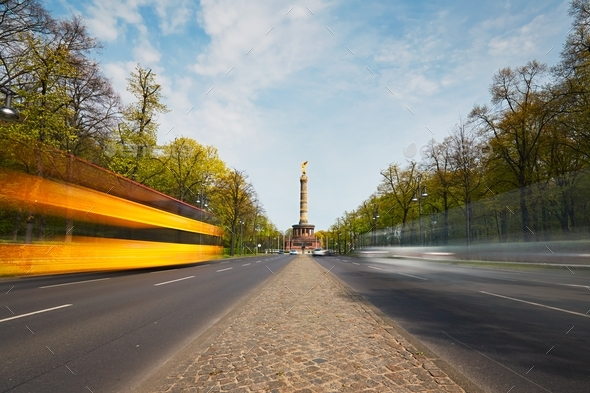 Traffic in Berlin - Stock Photo - Images