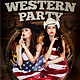 Western Party Flyer Template - GraphicRiver Item for Sale