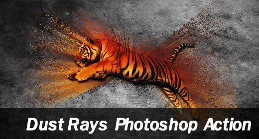 Dust Rays Photoshop Action