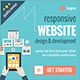 Flat Web Design & Development Banner Ads - GraphicRiver Item for Sale