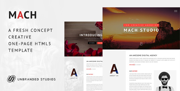 MACH – Fresh Concept One Page Creative HTML5  Template