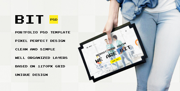 Bit — Original Digital Portfolio PSD Themplate