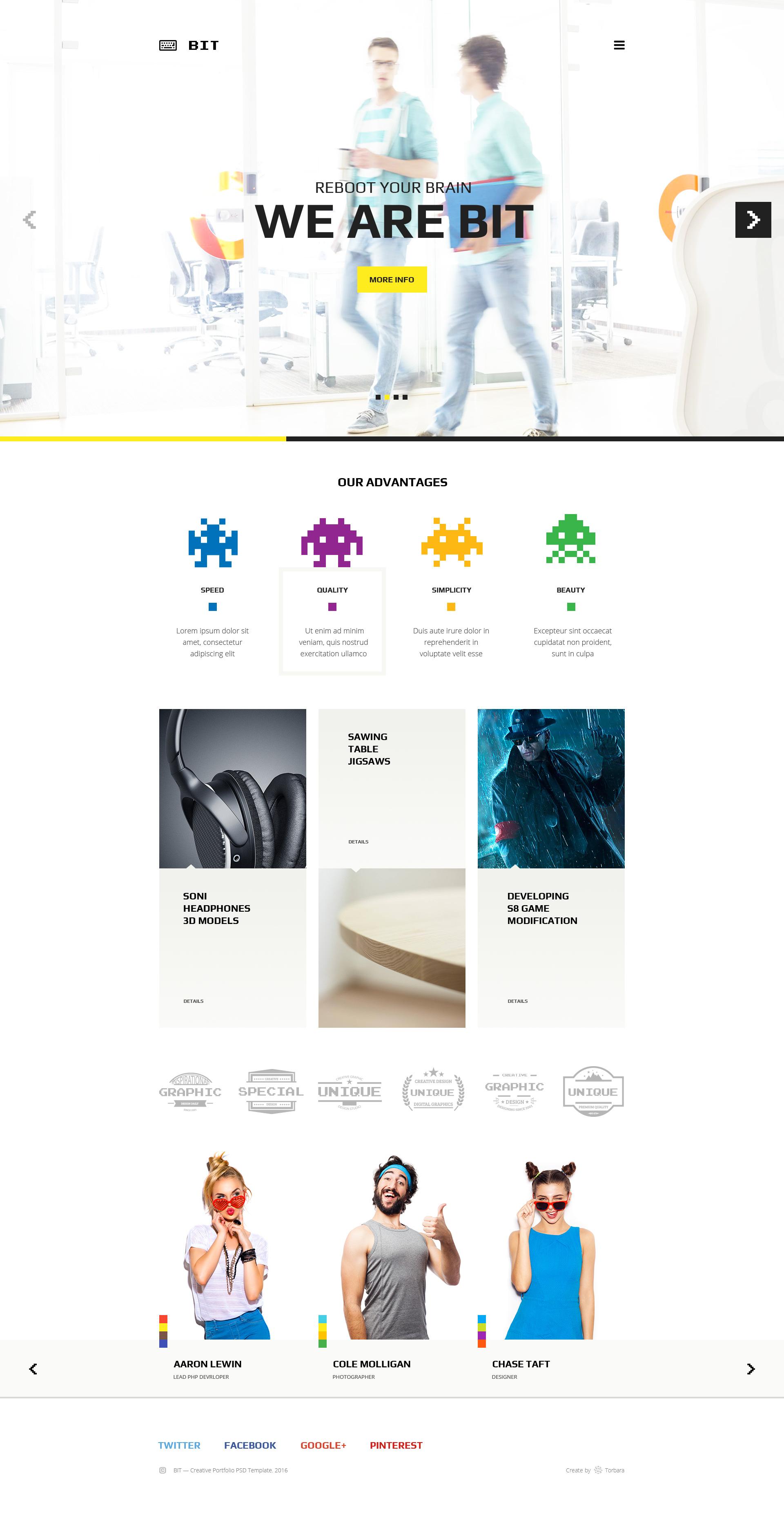 bit  u2014 original digital pixel art portfolio psd template by