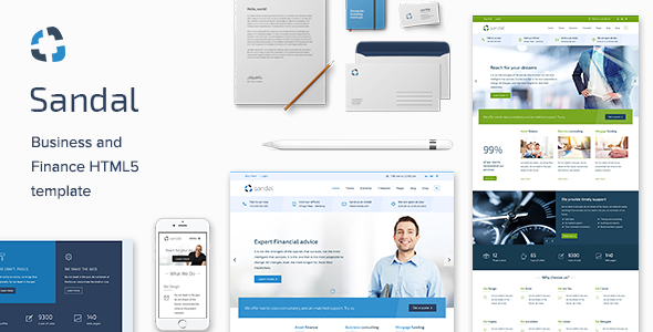 Finance & Consultancy Business HTML Template – Sandal