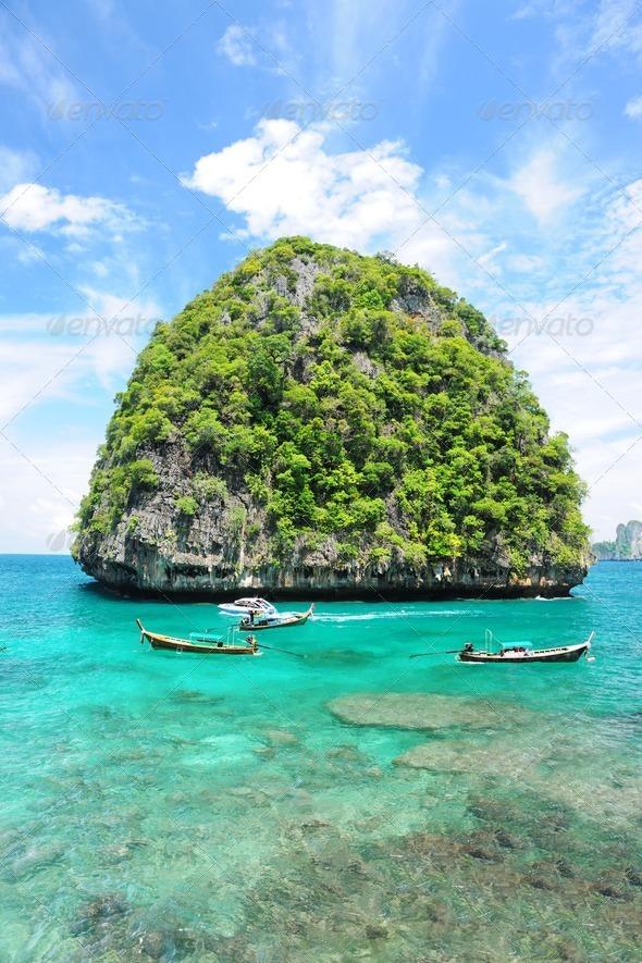 Uninhabited island - Stock Photo - Images