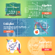 Mathematical Science Flat Banners Set - GraphicRiver Item for Sale