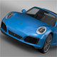 Porsche 911 Targa 4 991 2016 - 3DOcean Item for Sale