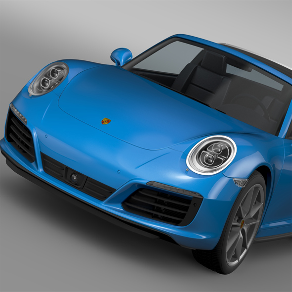 Porsche 911 Targa 4 991 2016 - 3DOcean Item for Sale