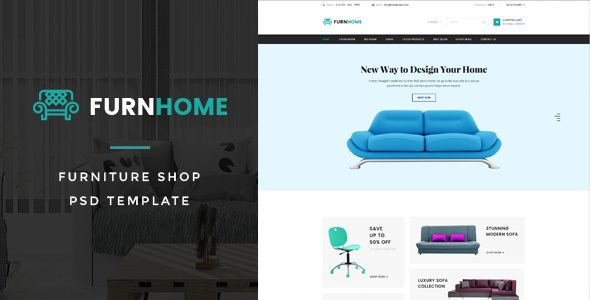 FurnHome : Furniture Shop eCommerce PSD Template