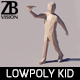 Lowpoly Kid 004 - 3DOcean Item for Sale