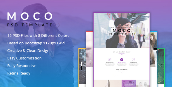 Moco Agency - Creative One Page Template - Creative PSD Templates