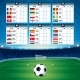Euro Soccer Table with Flags - GraphicRiver Item for Sale