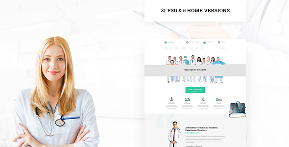 Columba - Medical PSD Template