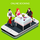 Online Booking Isometric People - GraphicRiver Item for Sale
