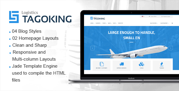 Tagoking – Freight and Logistics HTML5 template