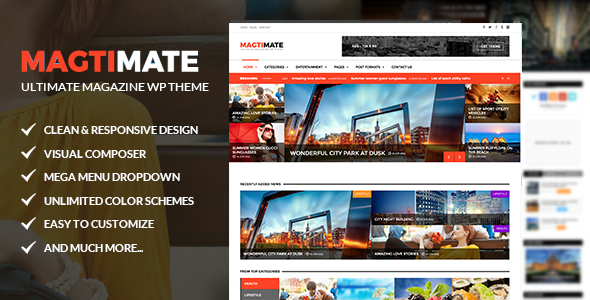 Magtimate – Magazine/Blog Multipurpose WordPress Theme