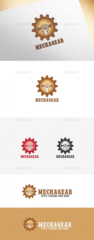 Mechagear Logo Template