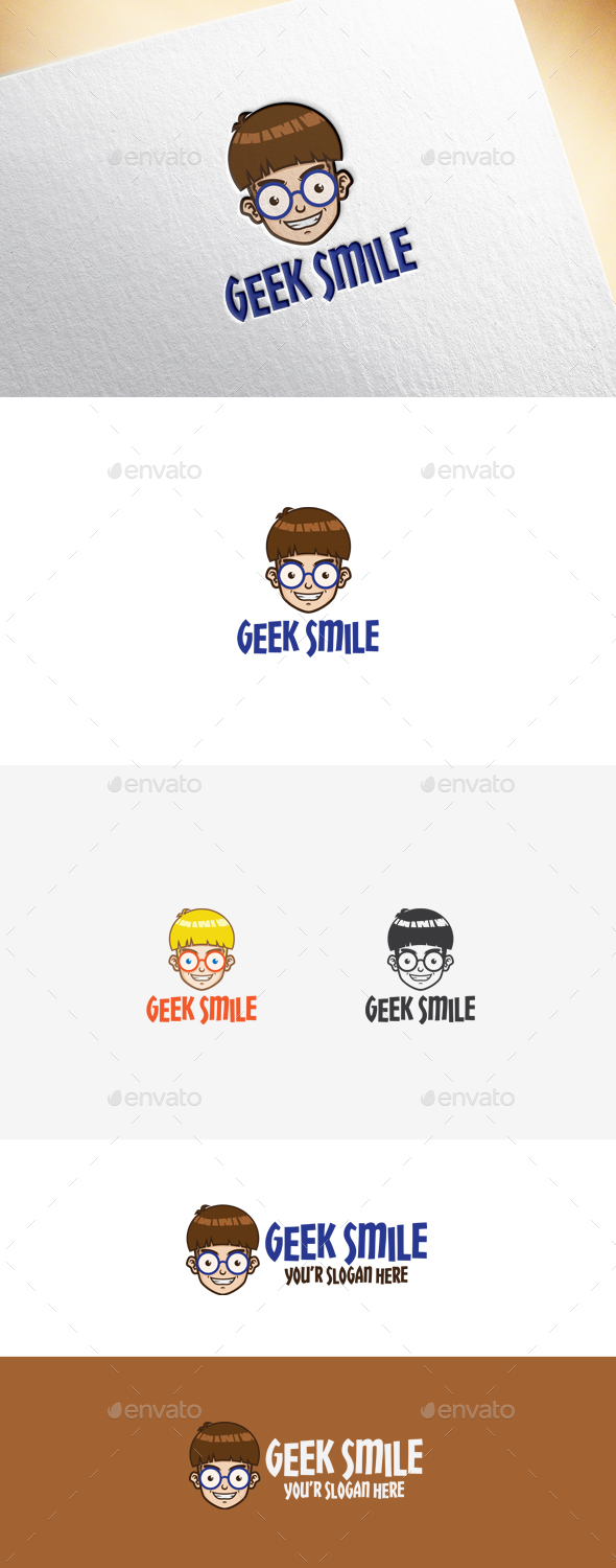 Geek Smile Logo Template - Humans Logo Templates