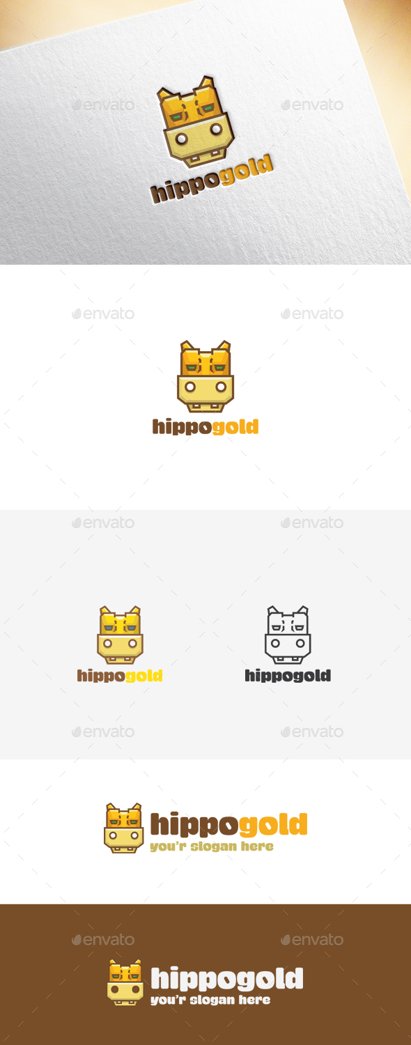 Hippogold Logo Template - Animals Logo Templates