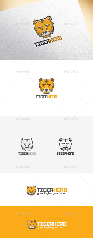 Tigerhead Logo Template - Animals Logo Templates