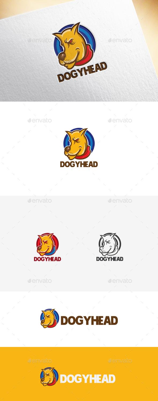 Dogyhead Logo Template - Animals Logo Templates