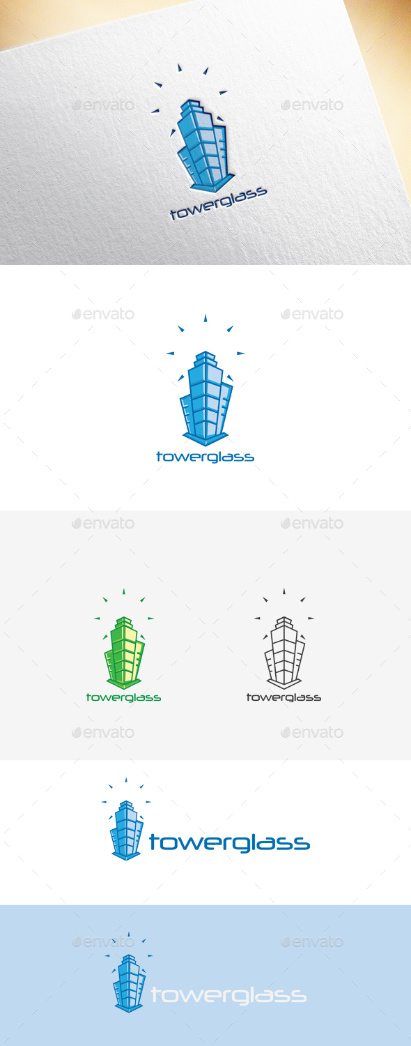 Towerglass Logo Template - Buildings Logo Templates