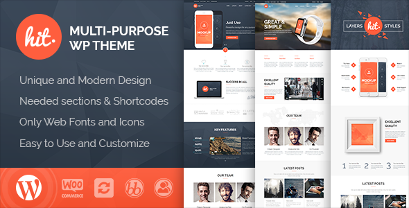 Hit - Business, Corporate, Creative WordPress Theme