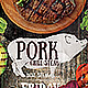 Pork BBQ Flyer Template - GraphicRiver Item for Sale