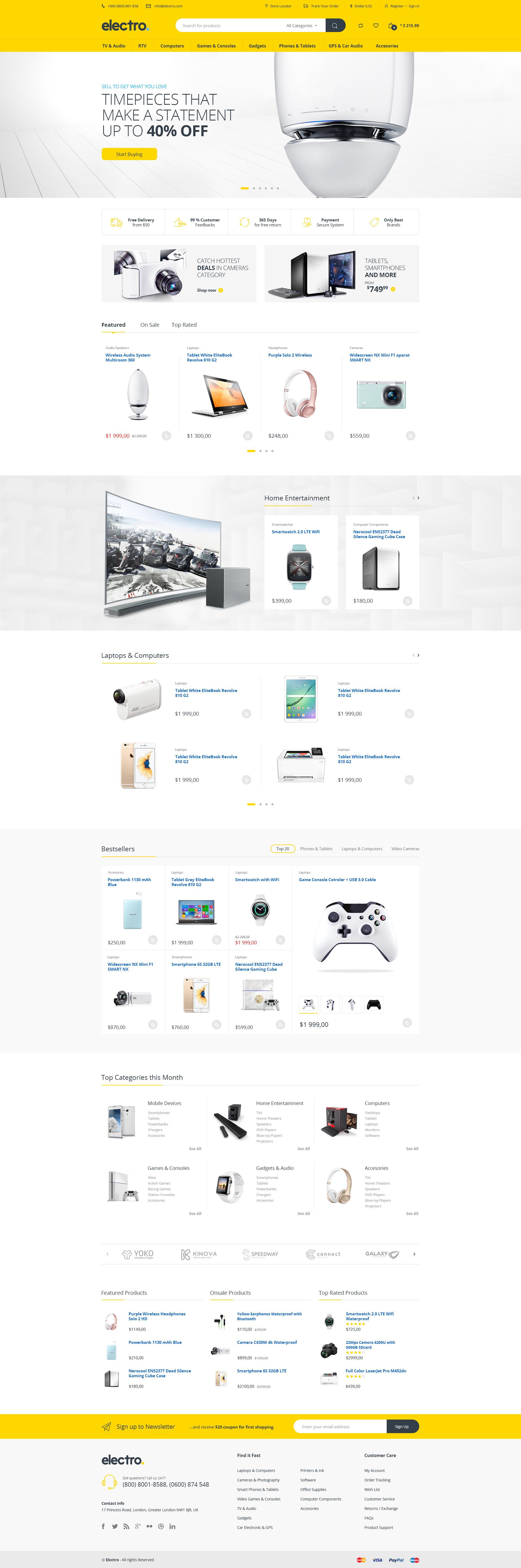 Electro - Electronics eCommerce HTML Template by shaikrilwan ...