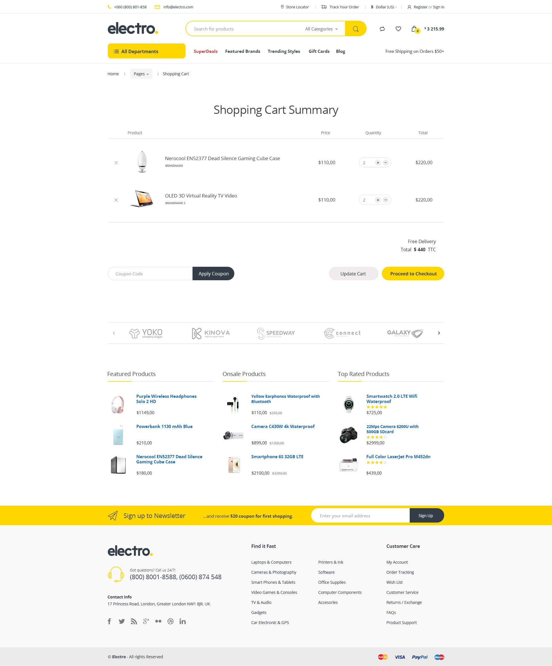 Electro Electronics Ecommerce Html Template By Madrasthemes
