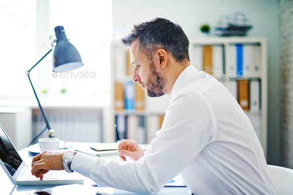 Typing in office - Stock Photo - Images