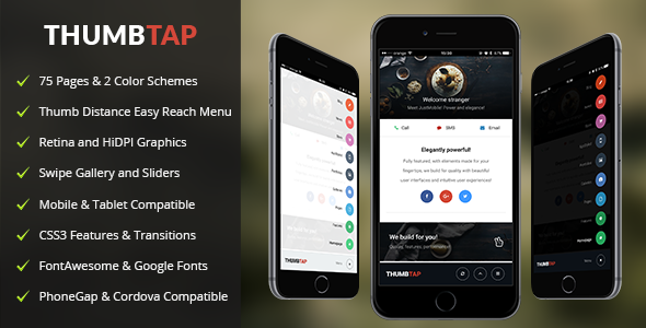 ThumbTap Mobile | Mobile Template