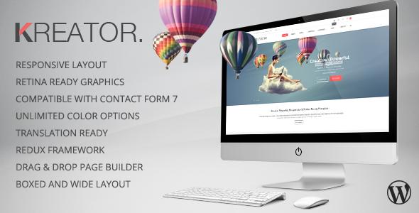Kreator - Multipurpose WordPress Theme - Portfolio Creative