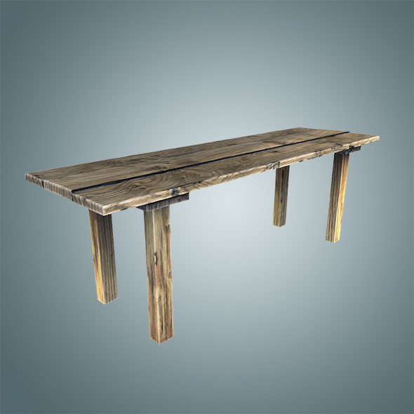 Old wooden table - 3DOcean Item for Sale