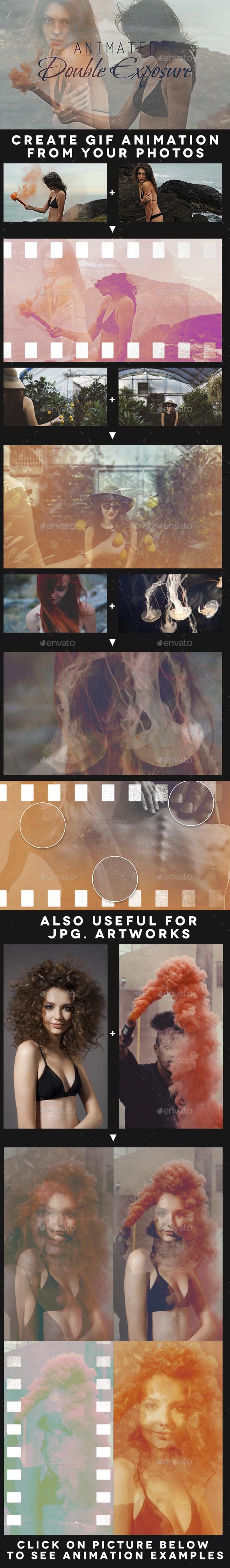 Animated Double Exposure Kit - Artistic Photo Templates