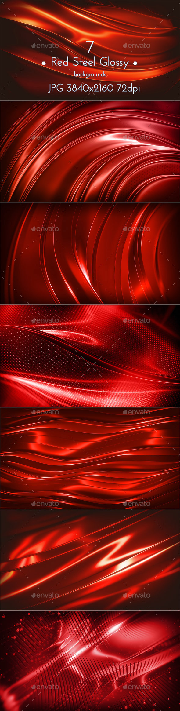 Red Steel Glossy Surface - Abstract Backgrounds