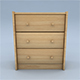 3 Drawer Chest - 3DOcean Item for Sale