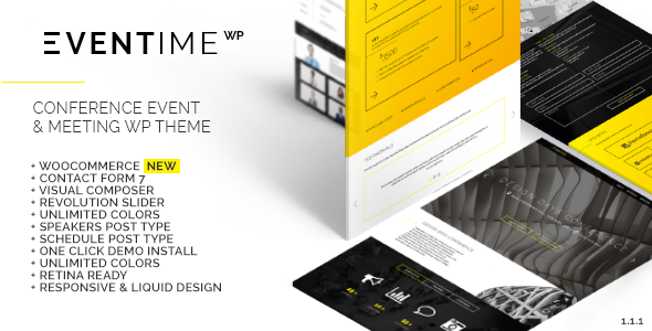 Eventime – Conference Event & Meeting WordPress Theme