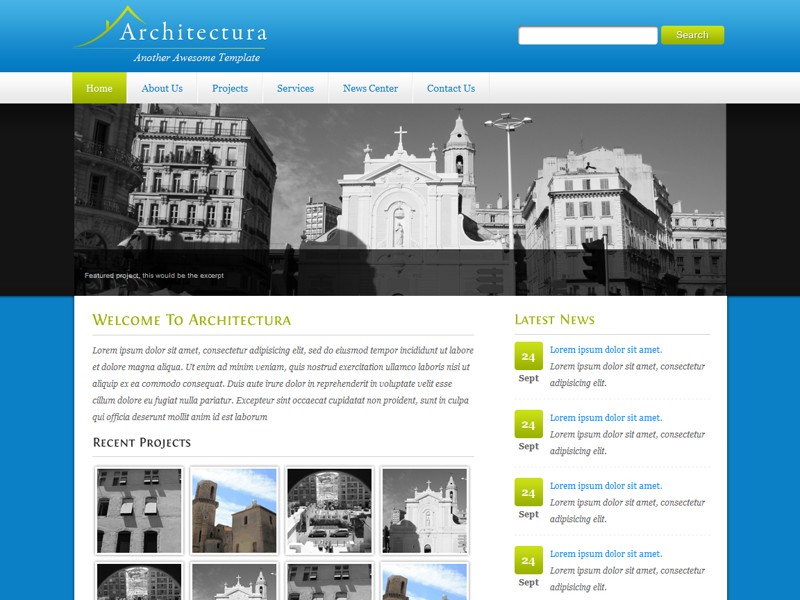 Free Download Architectura - 4 in 1 Clean HTML/CSS Nulled Latest Version