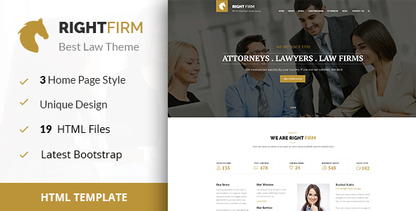 RIGHTFIRM – Law & Business HTML Template