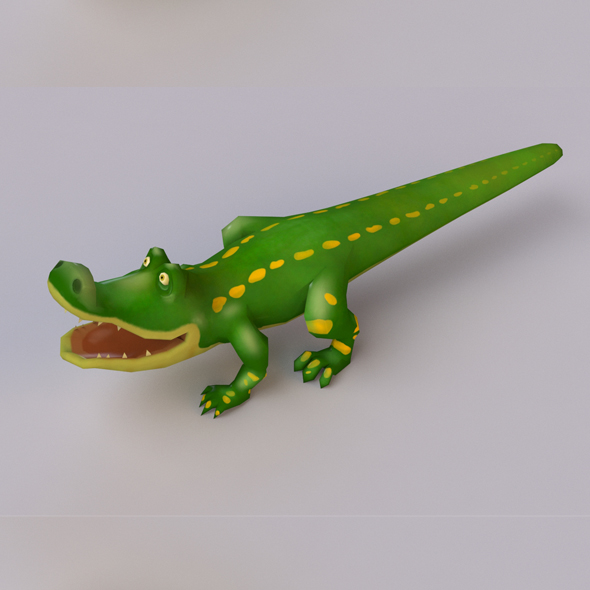 Cartoon Crocodile - 3DOcean Item for Sale