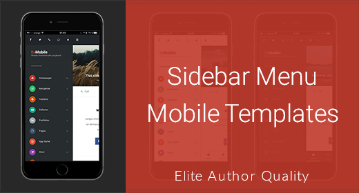 Sidebar Menu Mobile Templates