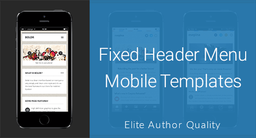 Header Menu Mobile Templates